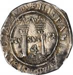 MEXICO. Late Series. 4 Reales, ND (ca. 1553-56). Assayer L (Mo-L). Carlos and Johanna (1516-56). NGC
