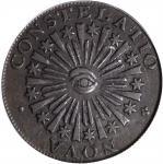 1783 Nova Constellatio Copper. Crosby 3-C, W-1875. Rarity-3. CONSTELATIO, Blunt Rays. Genuine--Envir