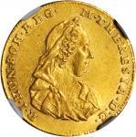 TRANSYLVANIA. 2 Ducats, 1773-H G. Karlsburg Mint. Maria Theresa (1740-80). NGC AU-58.