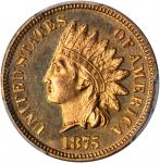 1875 Indian Cent. Proof-64 RD Cameo (PCGS).