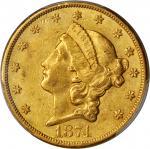 1874-CC Liberty Head Double Eagle. AU-55 (PCGS).