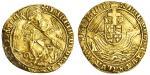 Henry VII (1485-1509), Angel, class III, 5.06g, mm. pansy, henric di?gra?rex agl?z franc? saltire st