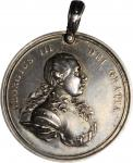 Undated (ca. 1776-1812) George III Indian Peace Medal. Small Size. Solid Silver. 38.2 mm. 20.2 grams