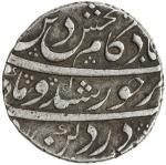 MUGHAL: Kam Bakhsh, 1707-1708, AR rupee 4011。49g41, Nusratabad, year one 40ahad41, KM-336。6, lovely