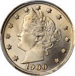 1900 Liberty Head Nickel. MS-66+ (PCGS). CAC.