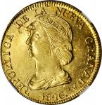 COLOMBIA. 16 Pesos, 1846-UM. Popayan Mint. NGC MS-61.