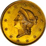 1849-C Gold Dollar. Close Wreath. MS-62 (PCGS).