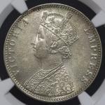 INDIA British India イギリス领インド Rupee 1890B NGC-AU58 EF+