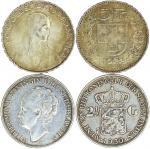 1922B瑞士伍法郎, 1930年荷兰贰盾半钱币各一枚, 均VF-AEF