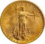 1912 Saint-Gaudens Double Eagle. MS-65 (NGC).