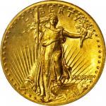 MCMVII (1907) Saint-Gaudens Double Eagle. High Relief. Wire Rim. MS-62 (PCGS).