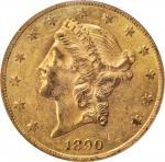 1890-CC Liberty Head Double Eagle. AU-58 (PCGS). CAC.