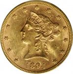 1894 Liberty Head Eagle. MS-62 (PCGS).