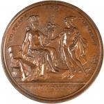 1876 United States Diplomatic Medal. Bronze. 68 mm. Julian CM-15. SP-62BN (PCGS).
