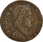 1787 Nova Eborac Copper. Breen-987, W-5760. Rarity-3. Seated Figure Facing Right. EF-40 (PCGS).