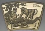 2004年甲申(猴)年生肖纪念金币1/2盎司扇形 NGC MS 69