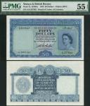 Board of Commissioners of Currency, Malaya and British Borneo, $50, 21 March 1953, serial number A/9