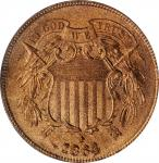 1864 Two-Cent Piece. Large Motto. MS-65 RD (PCGS). CAC.