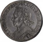 GREAT BRITAIN. 1/2 Crown, 1658. London Mint. Oliver Cromwell. PCGS AU-58 Gold Shield.