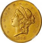 1856 Liberty Head Double Eagle. MS-61 (NGC).