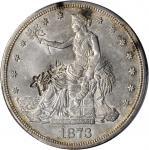1873-S Trade Dollar--Chopmark--AU-53 (PCGS).