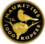 MAURITIUS. 1,000 Rupees, 1975. PCGS PROOF-66 DEEP CAMEO Secure Holder.