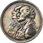 1783 Franklin and Washington, Peace of 1783. Silver. 40.3 mm. 543.5 grains. By Jacob Reich. Betts-61