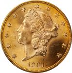 1901 Liberty Head Double Eagle. MS-65 (PCGS).