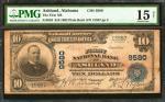 Ashland, Alabama. $10 1902 Plain Back. Fr. 626. The First NB. Charter #9580. Fine.