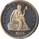 1886 Liberty Seated Quarter. Proof-67+ (NGC).