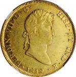 PERU. 8 Escudos, 1819-LIMA JP. Lima Mint. Ferdinand VII. NGC AU-53.