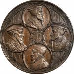 SWITZERLAND. Reformation Anniversary Bronze Medal, 1835. PCGS SPECIMEN-65 Gold Shield.