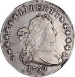 1799 Draped Bust Silver Dollar. BB-168, B-22. Rarity-5. VF Details--Improperly Cleaned (NGC).