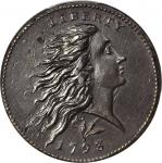 1793 Flowing Hair Cent. Wreath Reverse. S-11C. Rarity-3-. Lettered Edge. AU Details--Altered Surface