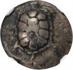 AEGINA. AR Drachm (5.66 gms), ca. 350-338 B.C.