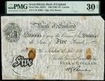 Bank of England, Horace Bowen (1893-1902), 5, London, 25 November 1897, serial number C/54 39605, bl