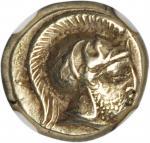 LESBOS. Mytilene. EL Hekte (2.52 gms), ca. 412-378 B.C.