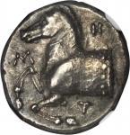 THRACE. Southern Thrace. Maroneia. AR Triobol (Drachm) (2.83 gms), ca. 400-350 B.C.