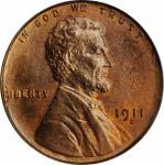 1911-S Lincoln Cent. MS-65 RD (PCGS).