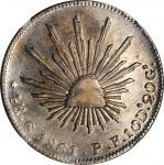 MEXICO. 4 Reales, 1861-Go PF. Guanajuato Mint. NGC AU-58.