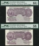 Bank of England, Kenneth Oswald Peppiatt (1934-1949), 10 shillings (6), ND (1940), prefixes A08D, H6