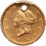 1853 $1 Gold Liberty. PCGS AU