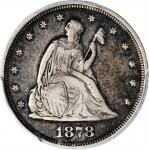 1878 Twenty-Cent Piece. Proof-35 (PCGS).