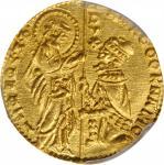 ITALY. Venice. Ducat, ND (1365-68). Marco Cornero. PCGS MS-64 Gold Shield.