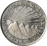 GUATEMALA. Central American Republic. 8 Reales, 1839-NG MA/BA. Nueva Guatemala Mint. PCGS MS-61 Gold