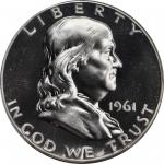 1961 Franklin Half Dollar. FS-801. Doubled Die Reverse. Proof-68 (PCGS). CAC.