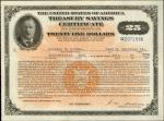 United States of America. Act of September 24, 1917 War Savings Certificates. $25 Payable in 5 Years