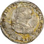 COLOMBIA. 1818-NR 1/2 Real. Santa Fe de Nuevo Reino (Bogotá) mint. Ferdinand VII (1808-1833). Restre