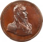 1812 Captain Jacob Jones Medal. Bronzed Copper. 65 mm. Julian NA-13. Specimen-66 (PCGS).