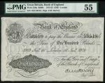 Bank of England, E.M. Harvey, £100, London 16 January 1919, serial number 15O 58519, black and white